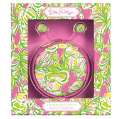 Lilly Pulitzer Elephant Ears Earbuds and Pouch www.tinytulip.com