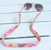 Lilly Pulitzer Jungle Tumble Sunglasses Strap www.tinytulip.com Navy Block Font