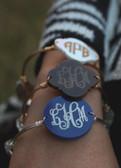 Bangle Monogram Bracelet Engraved www.tinytulip.com