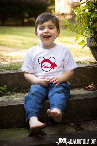 Monogrammed Mickey Mouse Pirate Shirt www.tinytulip.com