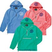 Double Monogrammed Pack-N-Go Pullover Windjacket www.tinytulip.com
