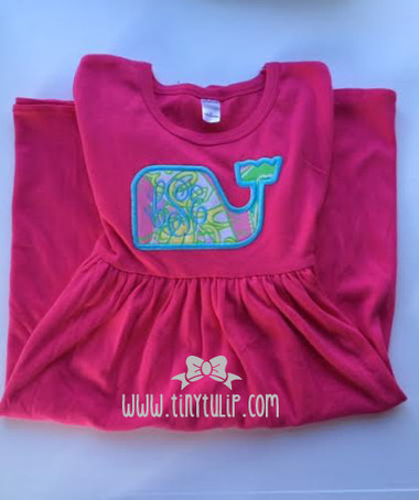 Lilly Pulitzer Whale Monogrammed Girls Dress www.tinytulip.com