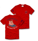 Red America Duck Boot Short Sleeve Shirt Southern Girl Prep www.tinytulip.com