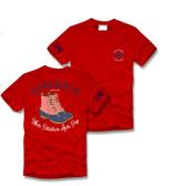 Red America Duck Boot Short Sleeve Shirt Southern Girl Prep www.tinytulip.com