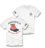 White America Duck Boot Short Sleeve Shirt Southern Girl Prep www.tinytulip.com
