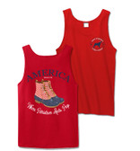 Red America Duck Boot Bro Tank Top Southern Girl Prep www.tinytulip.com