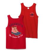 Red America Duck Boot Bro Tank Top Southern Girl Prep www.tinytulip.com