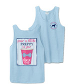 Chambray Preppy Dixie Cup Bro Tank Top Southern Girl Prep www.tinytulip.com