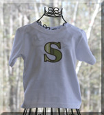 Boys Applique Initial Tee