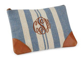 Monogrammed Hampton Carry All Clutch www.tinytulip.com Brown Master Script