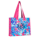 Monogrammed Lilly Pulitzer Market Bag Jellies Be Jammin www.tinytulip.com