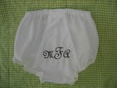 French Script Monogram with Black Thread