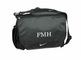 Monogrammed Nike Performance Messenger Bag www.tinytulip.com Mens Style Monogram with White Font