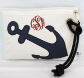 Monogrammed Anchor Wristlet www.tinytulip.com Red Master Script Font