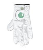 Monogrammed Golf Gloves www.tinytulip.com Mint Circle Font