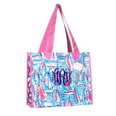 Monogrammed Lilly Pulitzer Market Bag Red Right Return  www.tinytulip.com Navy Interlocking Font