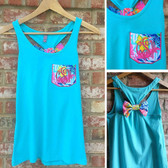 Monogrammed Lilly Pulitzer Pocket Bow Racerback Tank www.tinytulip.com