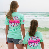 Southern Girl Prep Island Reef Preppy Patchwork Short Sleeve Shirt www.tinytulip.com