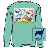 Southern Girl Prep Chalky Mint Get Your Prep in the Game Long Sleeve Shirt www.tinytulip.com