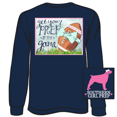 Southern Girl Prep Navy Get Your Prep in the Game Long Sleeve Shirt www.tinytulip.com
