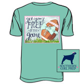Southern Girl Prep Chalky Mint Get Your Prep in the Game Short Sleeve Shirt www.tinytulip.com
