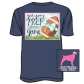 Southern Girl Prep Distressed Navy Get Your Prep in the Game Short Sleeve Shirt www.tinytulip.com
