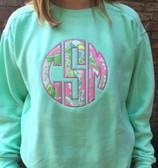 Monogrammed Lilly Pulitzer Applique Island Reef Sweatshirt www.tinytulip.com