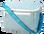 Seersucker Lunchbox ~ Tiny Tulip Monogramming Turquoise Seersucker