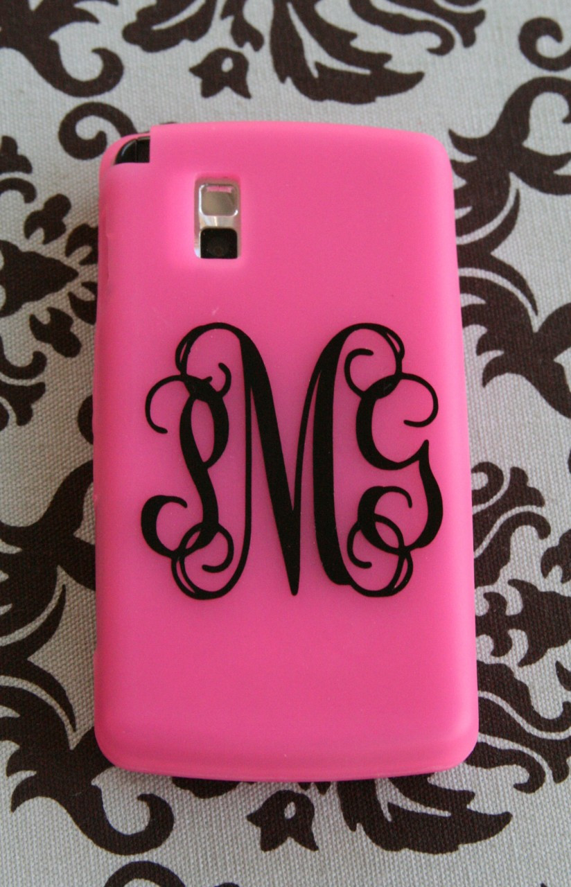 vinyl cell phone monogram tinytulip com we u0026 39 re all about personalization