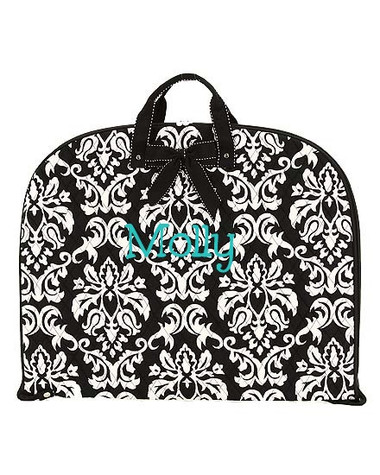 Damask Quilted Garment Bag - tinytulip.com Turquoise 5th grader Font