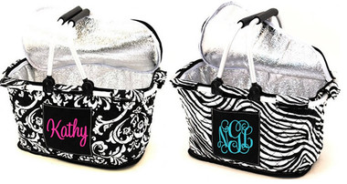 Quilted Insulated Market Basket Monogrammed