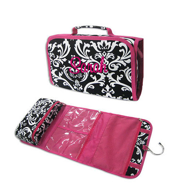 Black & White Damask Cosmetic Case~ Hanging  - www.tinytulip.com