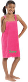 Monogrammed Kid's Terry Velour  Spa Wrap ~ Bathing Suit Cover Up