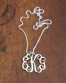 Filigree Monogram Pendant  Necklace ~ Floating Monogram