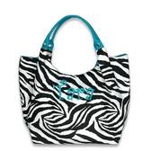 Monogrammed Animal Print Large Tote ~ Giraffe or Zebra - www.tinytulip.com