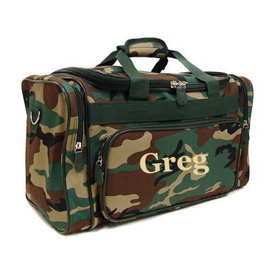 Monogrammed Camo Duffle Bag - www.tinytulip.com