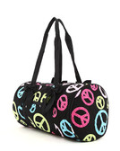 Monogrammed Peace Small Duffle - www.tinytulip.com