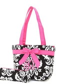 Monogrammed Quilted Damask Insulated Lunch Bag - www.tinytulp.com