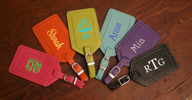 Monogrammed Luggage Tags - www.tinytulip.com