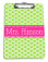 Lime Green Polka Dots with Classic Dot Ribbon  Hot Pink Blake Font
