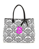 Damask Quilted Large Tote