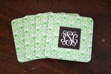 Personalized Set of 4 Coasters ~Monogrammed - www.tinytulip.com