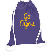 Monogrammed Drawstring Sport Cheer Backpack www.tinytulip.com