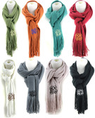 Monogrammed Cashmere Feel Winter Scarf  www.tinytulip.com