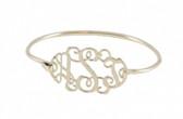 Sterling Silver Monogram Filigree Bracelet  Free Shipping   www.tinytulip.com