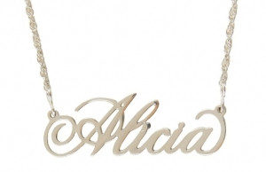 Personalized Filigree Name Necklace  Free Shipping   www.tinytulip.com Sterling Silver Elegance Font
