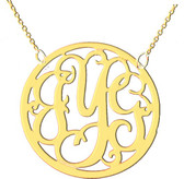 Cut Out Framed Script Monogram Necklace   www.tinytulip.com