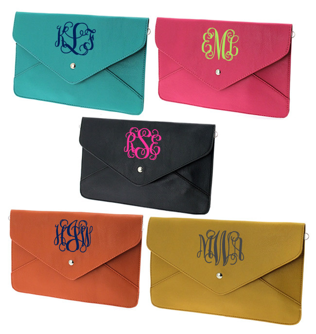 monogrammed envelope clutch cross body purse tinytulip com we u0026 39 re all about personalization