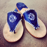 Classic Monogram Leather Palm Beach Sandals