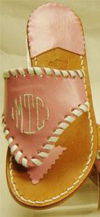 Lil Emma Classic Monogram Sandal www.tinytulip.com Stephen Bonanno